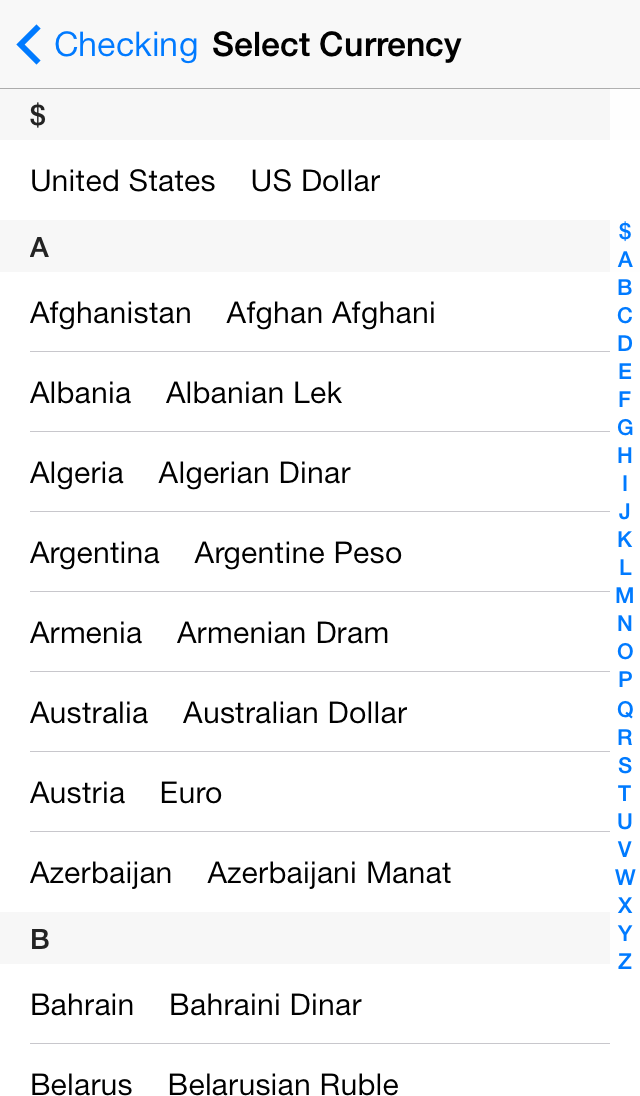 Setting Currencies Image